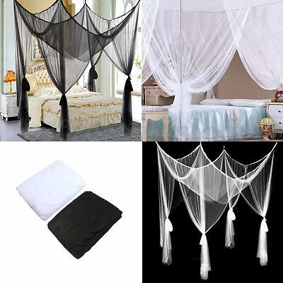 4 Post Poster Bed Canopy Four Corner Mosquito Insect Bug Net Mesh Full King Size