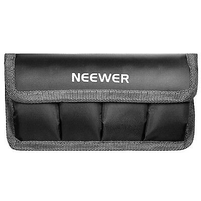 Neewer DSLR Battery Bag for AA Battery and lp-e6/ 8/ 10, en-el14/ 15, fw50/f550