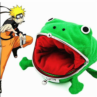 Naruto Kunai Ninja Weapon Frog Shape Cosplay Coin Purse Wallet Soft Furry GiftBH