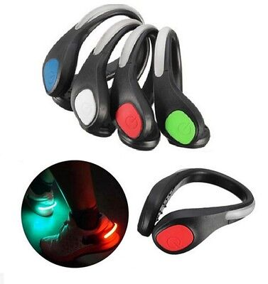 Flashing LED Clip On Shoe Clip For Night Time Running Jogging Walking Trainers