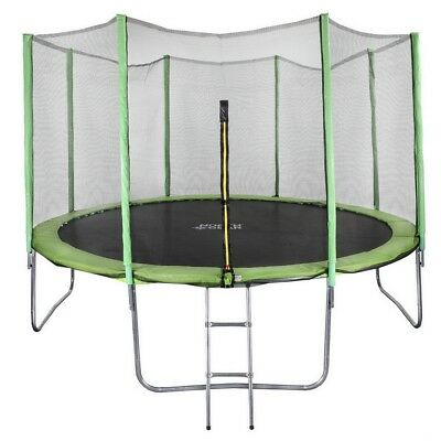 North Gear 12 Foot Trampoline Set with Safety Enclosure and Ladder