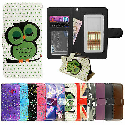 New PU Leather Magnetic Wallet Flip Case Cover For ARGOS ALBA Mobile Phones