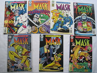 ADVENTURES of the MASK : COMPLETE RUN of ISSUES 1,2,3,4,5,6,7. Dark HORSE.1996