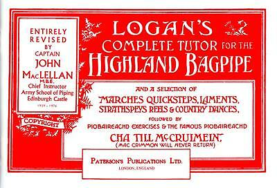 Logan's COMPLETE BAGPIPE TUTOR. Tutor book for Highland pipes from Hobgoblin