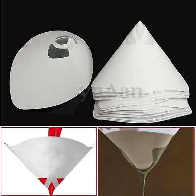 50-150PCS 400 micron Paper Nylon Paint Strainer Filter Purifying Straining Cup