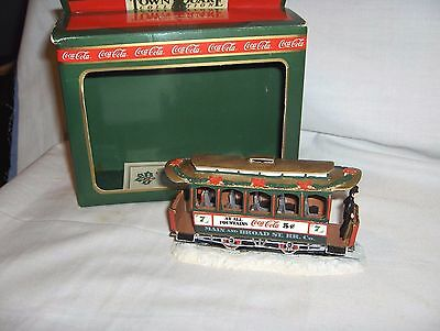 """#737 - Coca-Cola Town Square """"old Number Seven"""" Trolley Car - Christmas Village"""