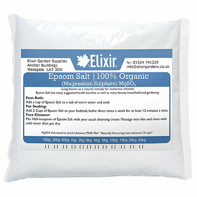 EPSOM BATH SALTS | 25KG Pharmaceutical | Finest Quality | Magnesium Sulphate