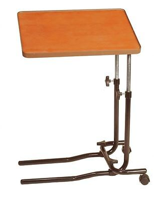 Medical Chair Table Adjustable Angle Home Over Bed Mobility Tray Food Hospital