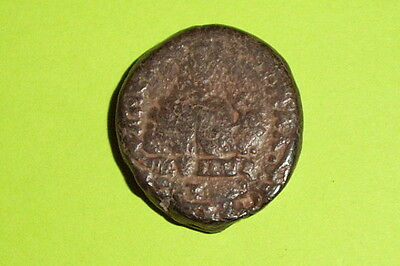 ANCIENT ROMAN BIBLICAL COIN temple & shrine ELAGABALUS Mt. Gerizim bible antique