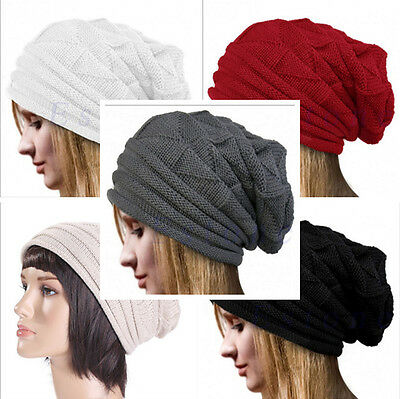 Winter Knit Women's Men's Baggy Beanie Oversize  Hat Ski Slouchy Chic Cap Skull