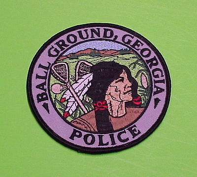 Ball Ground  Georgia  ( Black Letters ) Indian   Police Patch   Free Shipping!!!