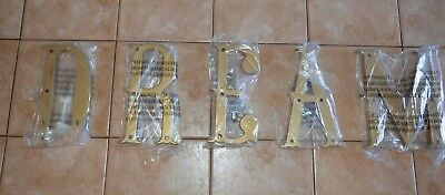 """Pottery Barn Kids Dream Wall Letter Set Gold Hardware NOT Included 12"""""""