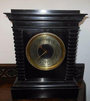 very heavy french egyptian styled marble clock c1880s