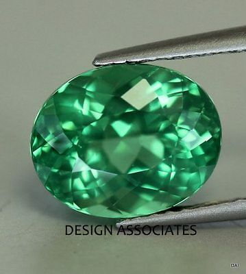 Apatite 7X5 Mm Oval Cut All Natural Chrome Green Color