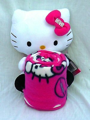 """Cleveland Browns 40"""" x 50""""  Blanket / Throw & Hello Kitty Set ~ New"""