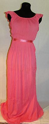 Vintage 1950's Nightgown~Salmon Color with Pleats