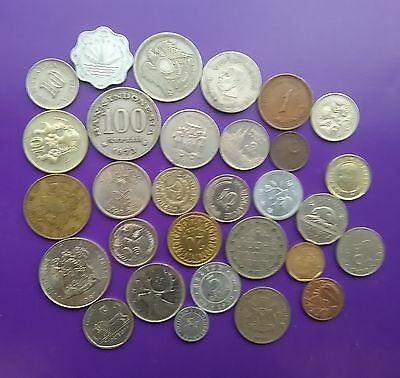 WORLD COIN SELECTION OF 30 different