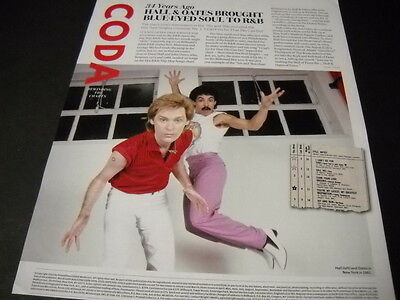 HALL & OATES retro style 2016 Promo Display Page 34 YEARS AGO BLUE-EYED SOUL...