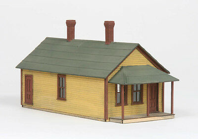 LaserKit Branchline S Scale One Story Section House Kit #81   Bob The Train Guy