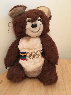 Rare Vintage Olympic Mascot Misha Moscow 1980 By Dakin Retro Old Toy G1 Fast Pos