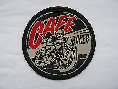 Cafe Racer Iron on/ Sew on Patch Biker Motorcycle