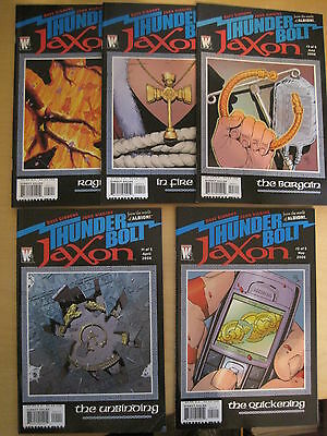 THUNDER BOLT JAXON : COMPLETE 5 ISSUE SERIES by GIBBONS & HIGGINS.WILDSTORM.2006