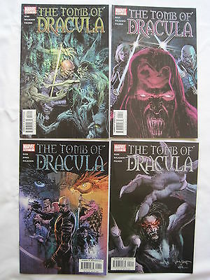 The TOMB of DRACULA - COMPLETE 4 ISSUE SERIES. EXPLICIT CONTENT. MARVEL. 2004