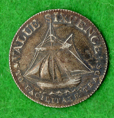 Hampshire 19th Century Silver Token D7 1811 Sixpence County Issue