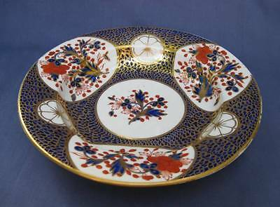 Antique Derby English Porcelain Georgian Imari Bowl Red Crown Mark 1806-1825