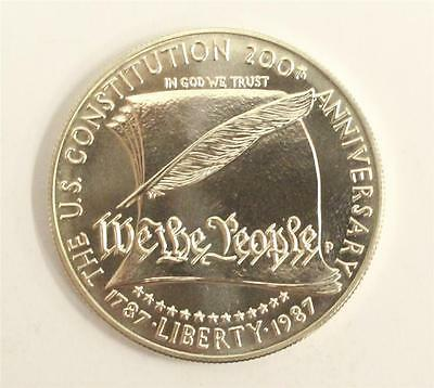 1987-P US Constitution Commemorative MS65+ Uncirculated Silver Dollar
