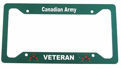 Canadian Army Veteran License Plate Frame