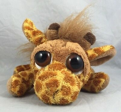 Leda Giraffe Baby Lil Peepers Russ Berrie Mini Plush Zoo Figure Pet Big Eyes 5""