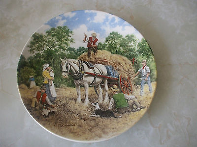 Bradford Exchange Collectors Plate Life on the farm 'Haymaking'