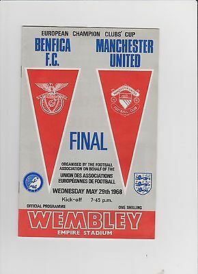 1968 European Cup Final.Benfica v Manchester United.