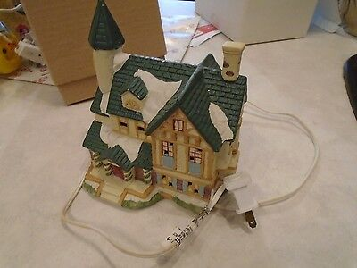 Christmas Village 2 Story House  Lighted