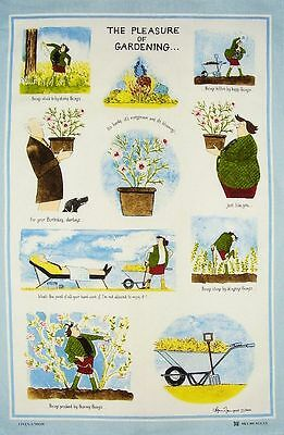 Pleasure Of Gardening Tea Towel, Tottering By Gently, garden