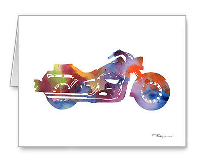 Harley Davidson Motorcycle Note Cards With Envelopes