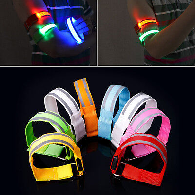 New Reflective LED Light Arm Armband Strap Safety Belt For Night Running Cycling