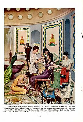 Emperor Nero's Mother & Handmaids An Empress Makes Ready H M Herget 1946 Print
