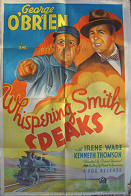Movie Poster – Orig.1935 – Whispering Smith Speaks - One Sheet - George O' Brien