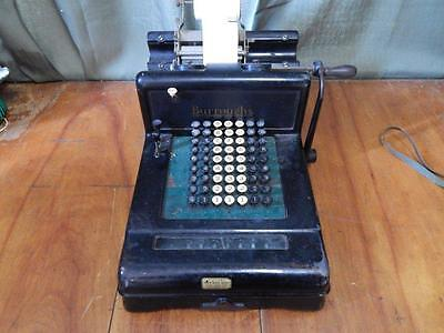 ANTIQUE BURROUGHS ADDING MACHINE EARLY 1900's Working!