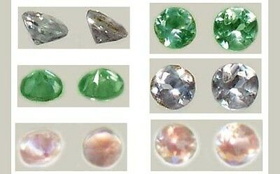 Two 19thC Antique Handcrafted Genuine Natural Russian Color-Change Alexandrites