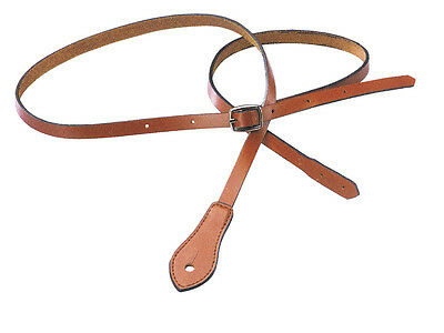 XTR BROWN LEATHER MANDOLIN STRAP Comfortable & Fully Adjustable Buckle *NEW*!