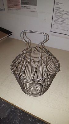 Antique Vintage Wire Egg Fruit Gathering Farm Basket FREE SHIPPING