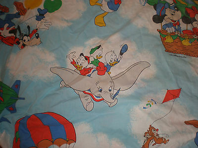 Vintage Mickey Mouse Hot Air Balloon Disney Fitted Double Full Sheet Craft
