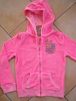 (340) Spirit of Hope Girls Kapuzen Sweatjacke Vogel Victory & Logo Druck gr.128