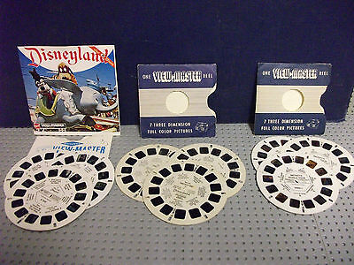 Early Sawyers Viewmaster 3D Reel Sets X3 Disneyland Mickeys World Tour Fantasy