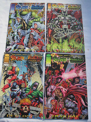 SPAWN  WILDCATS : COMPLETE 4 ISSUE MINI SERIES by ALAN  MOORE.  IMAGE   1996