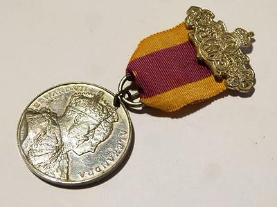 1902 EDWARD VII Coronation Medal on Ribbon #K6