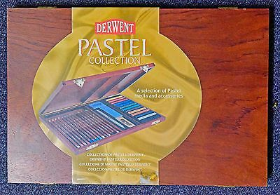 Derwent Pastel Collection wooden box NEW pencils media and accessories